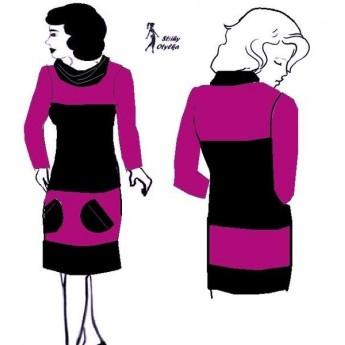 Šaty úpletové, s rolákem Hedvika