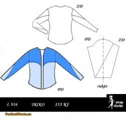 Tričko s dlouhým rukávem Emanuela / Emanuel