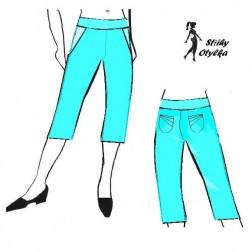 Tříčtvreční kalhoty Katuška