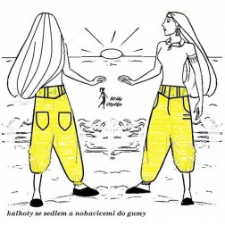 Volné kalhoty Aiša 8