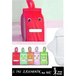 ZÁSOBNÍK závěsný na hygienické potřeby