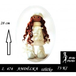 Andělka Aninka tělíčko, PDF, VP 28 cm