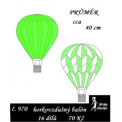 Horkovzdušný balón průměr 40 cm