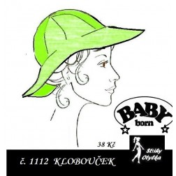 klobouček na panenku Baby Born, JPG