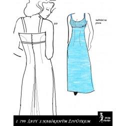 Šaty s nabíranou náprsenkou Apolenka