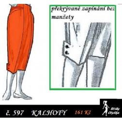Tříčtvreční kalhoty Katka