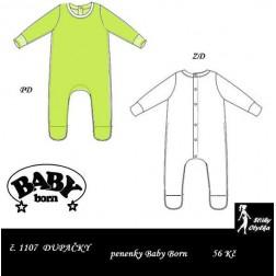 dupačky na panenku Baby Born  PDF, JPG