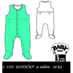dupačky na panenku Baby Born, PDF, JPG
