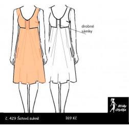 Šatová sukně Klárka