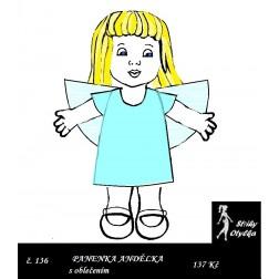 Andělka Andulka tělíčko, oblečky PDF, VP 20 cm