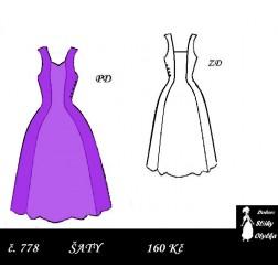 Šaty bez rukávů Elvíra