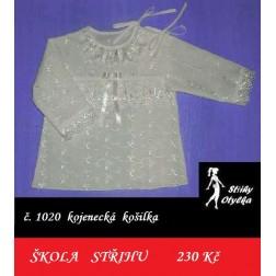 Škola střihu - kojenecká KOŠILKA Kateřina / Karel