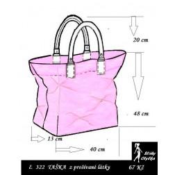 Kabelka č. 08 nákupní taška - výška 48 cm