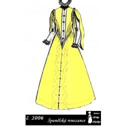Španělské renezanční šaty,  Perchta