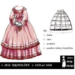 Šaty s krinolínou Markéta