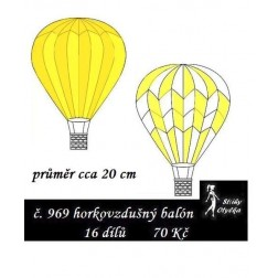Horkovzdušný balón průměr 20 cm