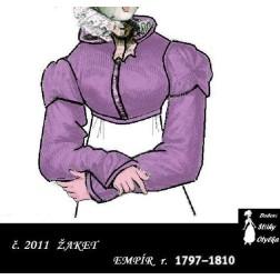 Empírový kabátek Anděla r. 1797 až 1810