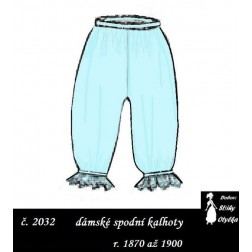 Reformní kalhotky Stázka, r. 1870 až 1900