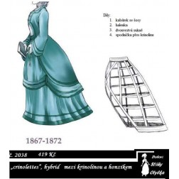 Dámské šaty s honzíkem crinolettes