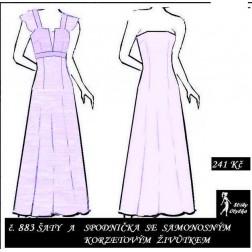 Plesové šaty se spodničkou Sisi