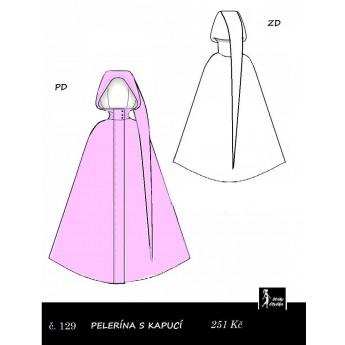 Plášť s dlouhou kapucí Popelka