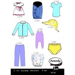 oblečky na panenku Baby Born 9 ks  PDF, JPG