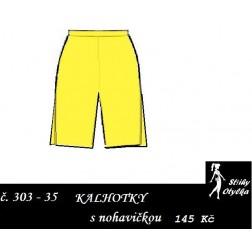 Spodní kalhotky vzor č. 35 s nohavičkou Augusta