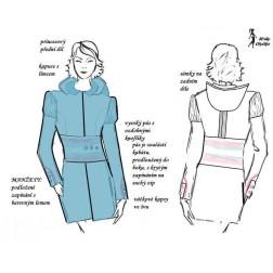 Kabát s kapucí vypasovaný, Eva