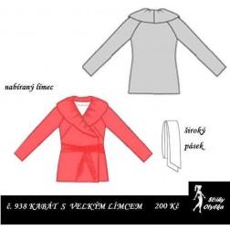 Kabát s velkým límcem Sylva
