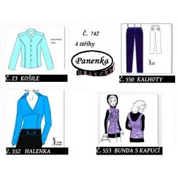 oblečky na panenku 4 ks