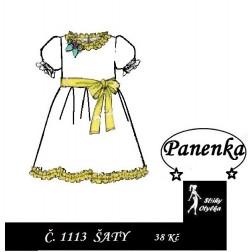 šaty na panenku