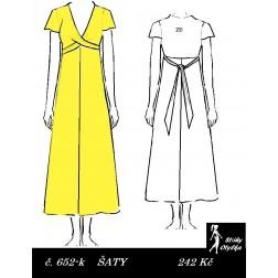 Šaty s véčkovým výstřihem Jiřina