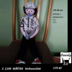 Skřítek Knihovníček, tělíčko a oblečení, VP 50 cm