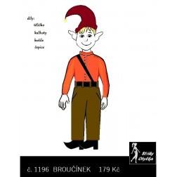 Broučínek, tělíčko a oblečení, VP 50 cm