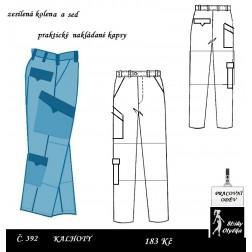 Montérky / Kalhoty pracovní Marcel / Marcela
