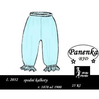 spodní reformní kalhotky na panenku