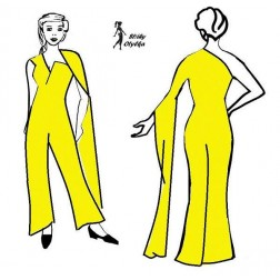 Kalhoty, zavinovací živůtek, Elena
