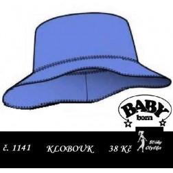 klobouk na panenku Baby Born, JPG