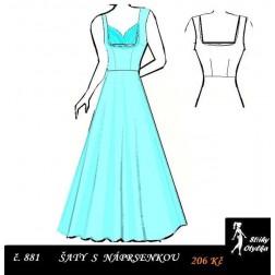 Plesové šaty Leona