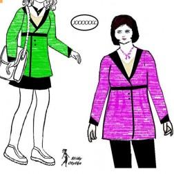 Sako se šálovým límcem