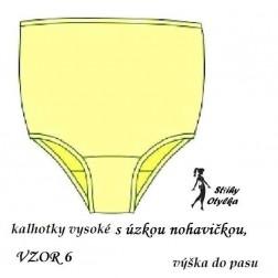 Spodní kalhotky vzor č. 06, formující
