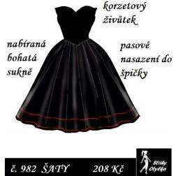 Šaty bez rukávů Margareta