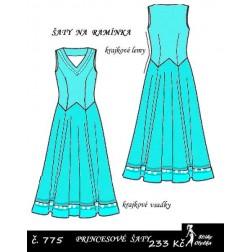 Šaty princesové, bez rukávů Dorynka