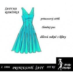 Šaty princesové, bez rukávů Žofie