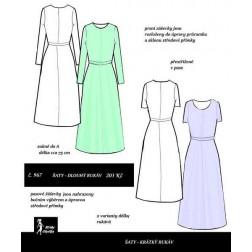 Šaty Radka, 2 typy rukávů
