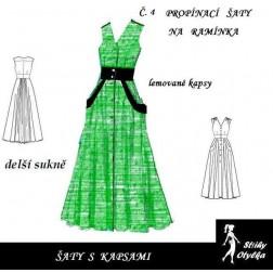 Šaty s kapsami a s  delší sukní Gábina